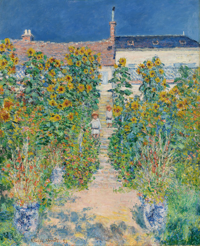 The Artist's Garden at Vétheuil, 1881. ©Photography: Fredrik Nilsen Exhibition organised by the Royal Academy of Arts and the Cleveland Museum of Art.
