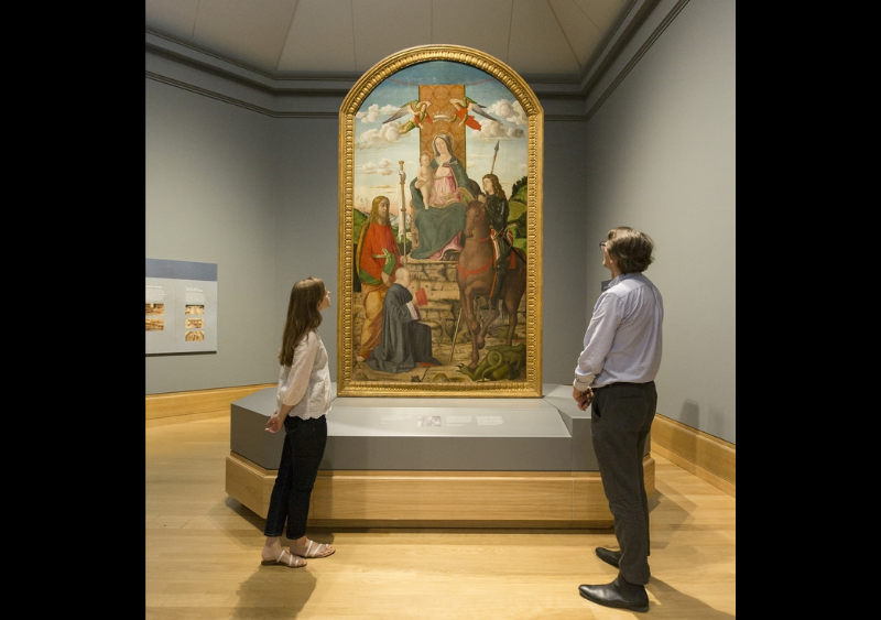 Renaissance-masterpiece 'The Virgin and Child with Saints' on display after 100 years