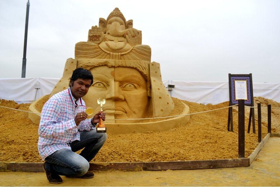 Sudarsan selected for Italian golden sand art award