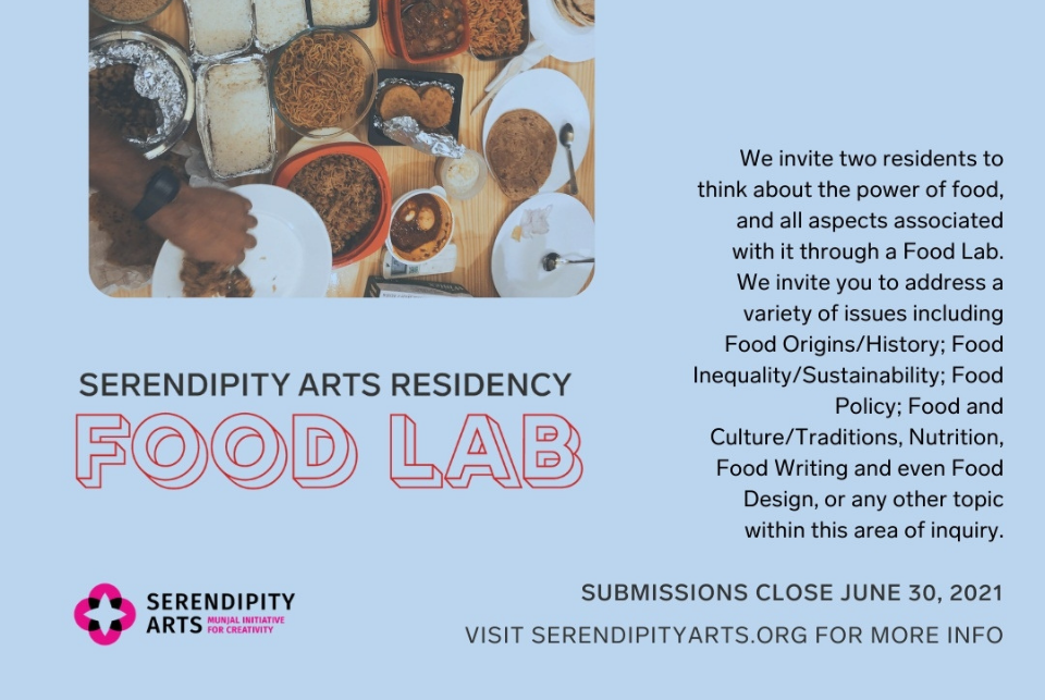 """Serendipity Arts Foundation invites culinary arts practitioners for """"Food Lab"""" residency"""